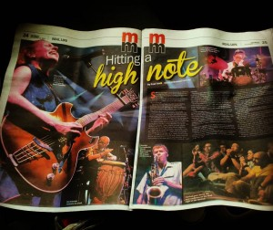 Two page spread in Malay Mail from 12th Penang Island Jazz Festival!
